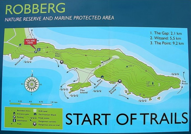 Robberg Trail Map